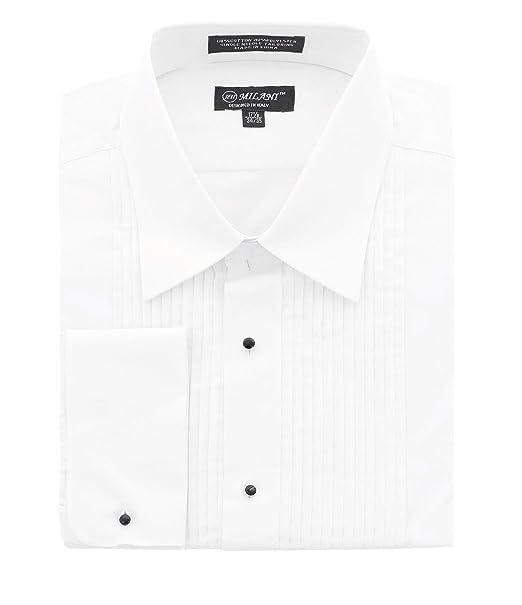 03374b8306e Milani Men s Tuxedo Shirt with French Cuffs  Amazon.ca  Clothing    Accessories