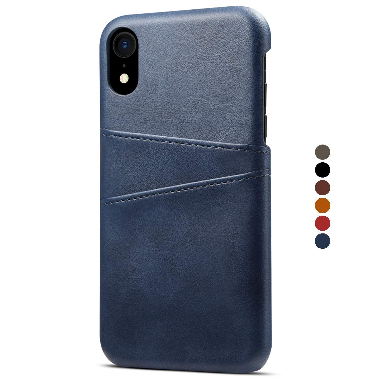 HARRMS Apple iPhone X/XS/XR/XS Max Kunst Leder Case Hülle Cover Handytasche mit Kartenfach Kredit Karten Hülle Handy Schutzhülle, 6 Farben