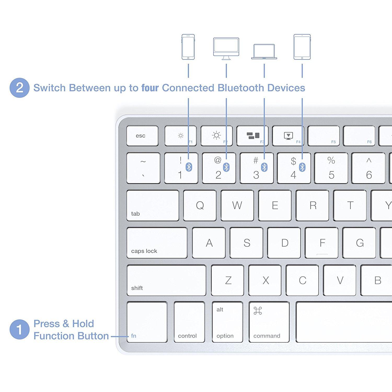 Satechi Bluetooth Wireless Smart Keyboard With 4 Device Sync