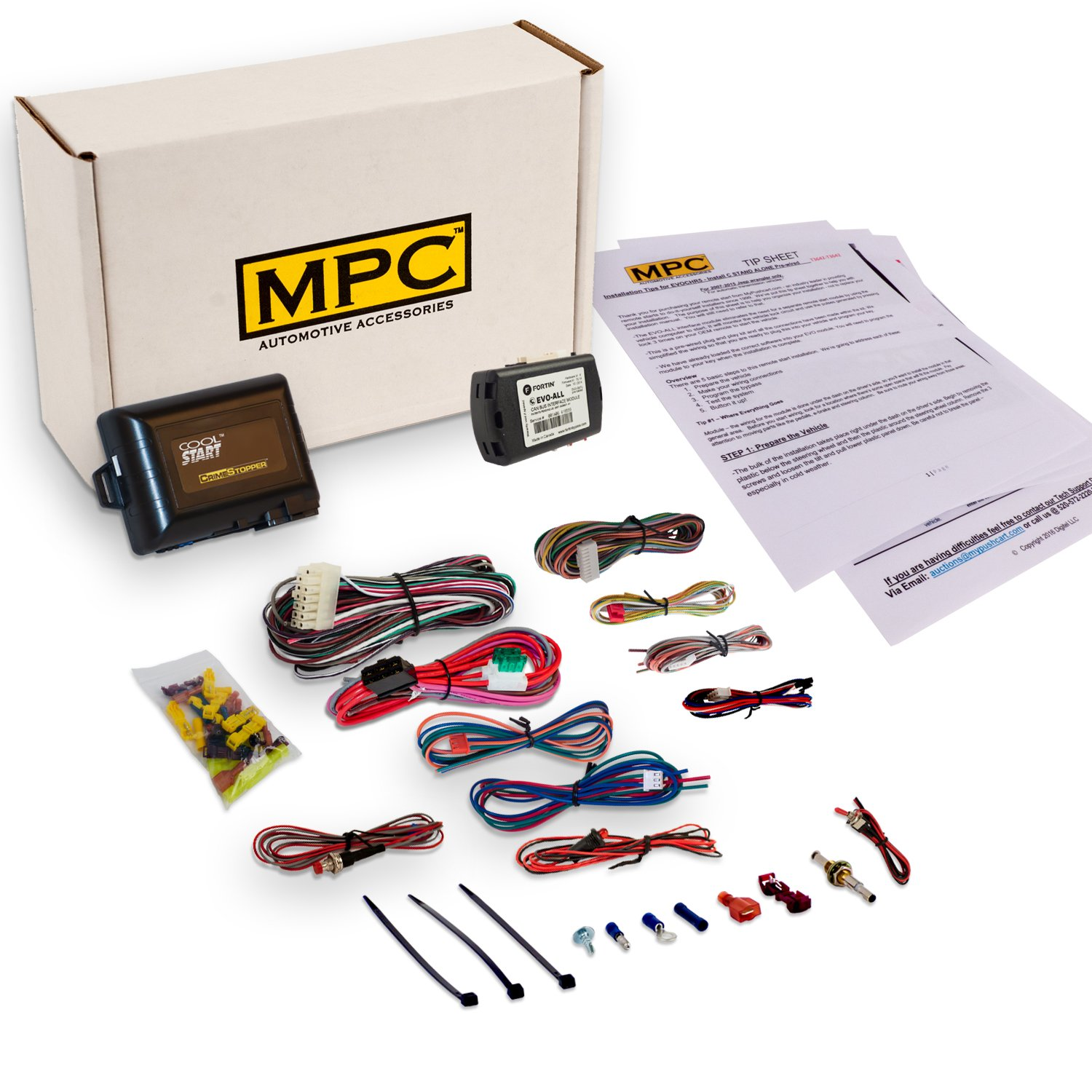 MPC Complete Add-on Remote Start For 2014-2016 Toyota Corolla w/Key to Start - Includes Bypass Module - Uses Factory Remotes