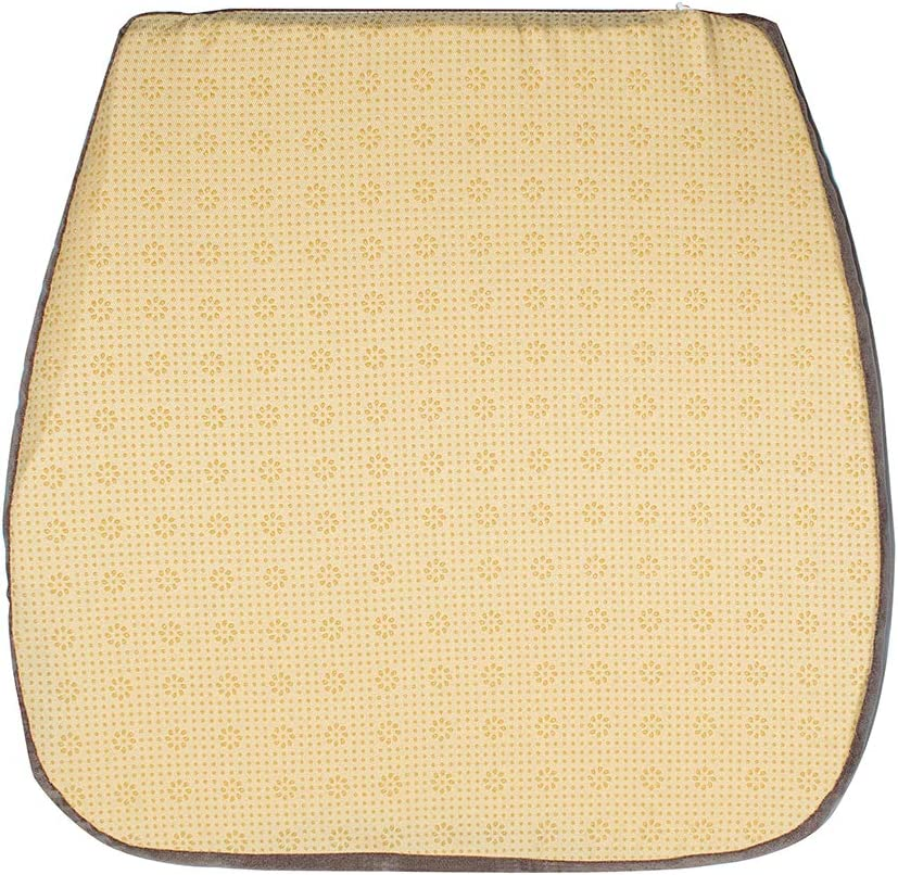 Nobildonna 2 Pack Burlywood 16 x 16 Memory Foam Chair Pad with Non Slip Chair Pads Kitchen Dining Home D/écor