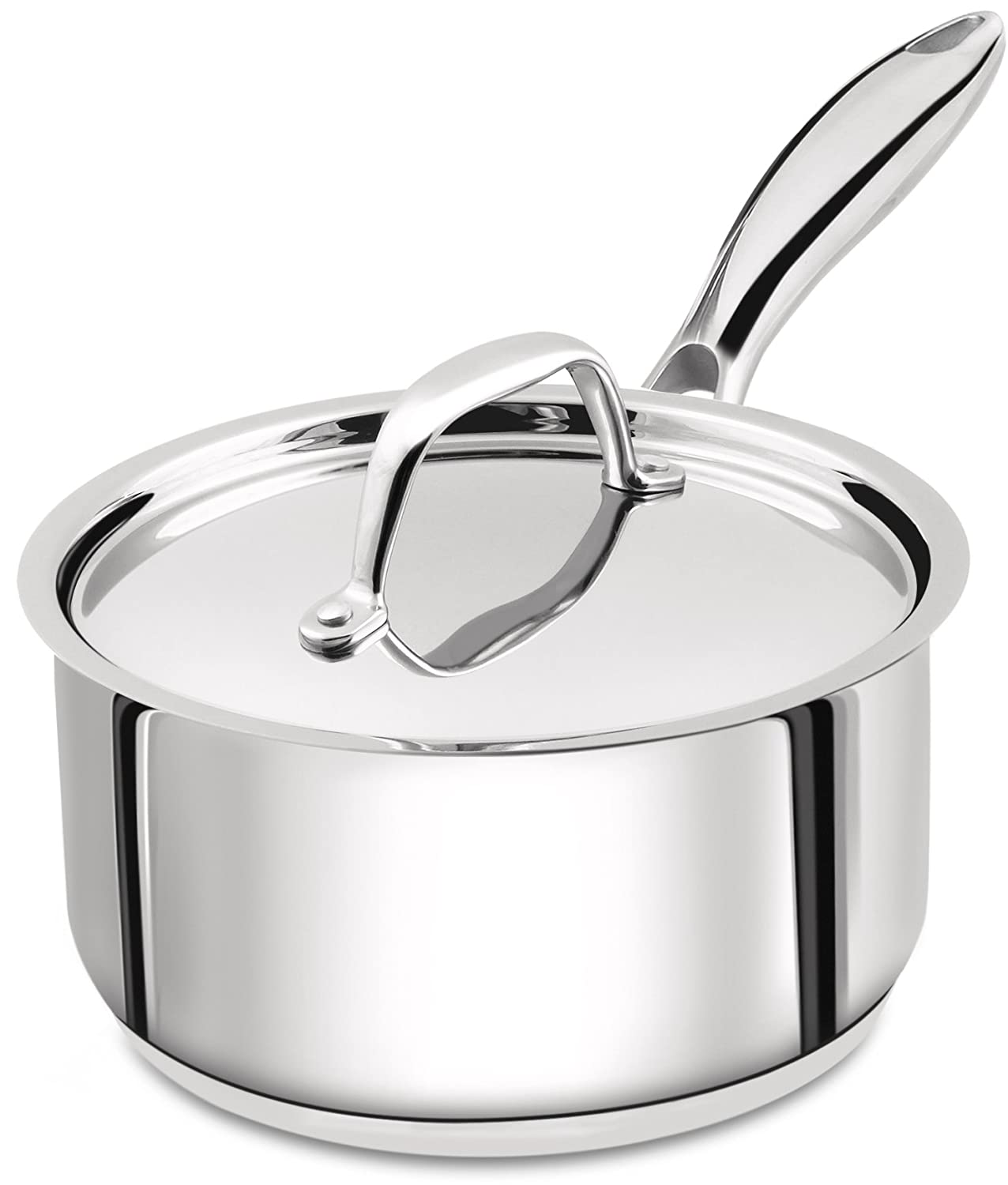 Utopia Kitchen 2 Quart Sauce Pan with Lid - Induction Compatible Stainless Steel Saucepan - Dishwasher Safe UK0145