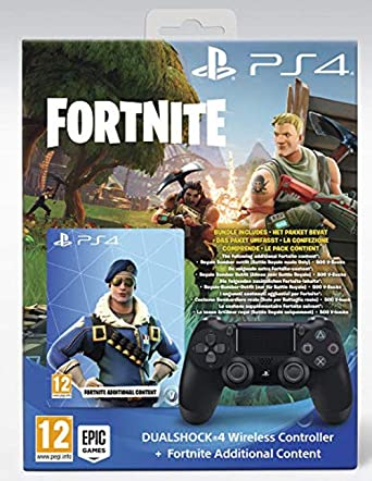 PS4 Dualshock 4 Wireless Controller + Fortnite Additional