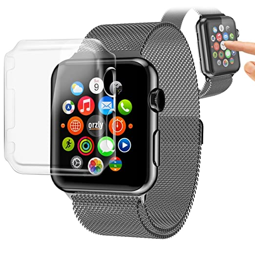 105 opinioni per Orzly®- InvisiCase for APPLE WATCH (38mm)- 100% CLEAR (100% trasparente a