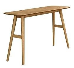 Homelegance Anika Mid-Century Sofa Table, Light Ash