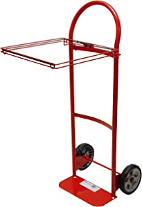 Milwaukee Hand Trucks 40620 Flow Back Handle Truck with Poly Bag Holder and 8-Inch Semi Pneumatic Tires