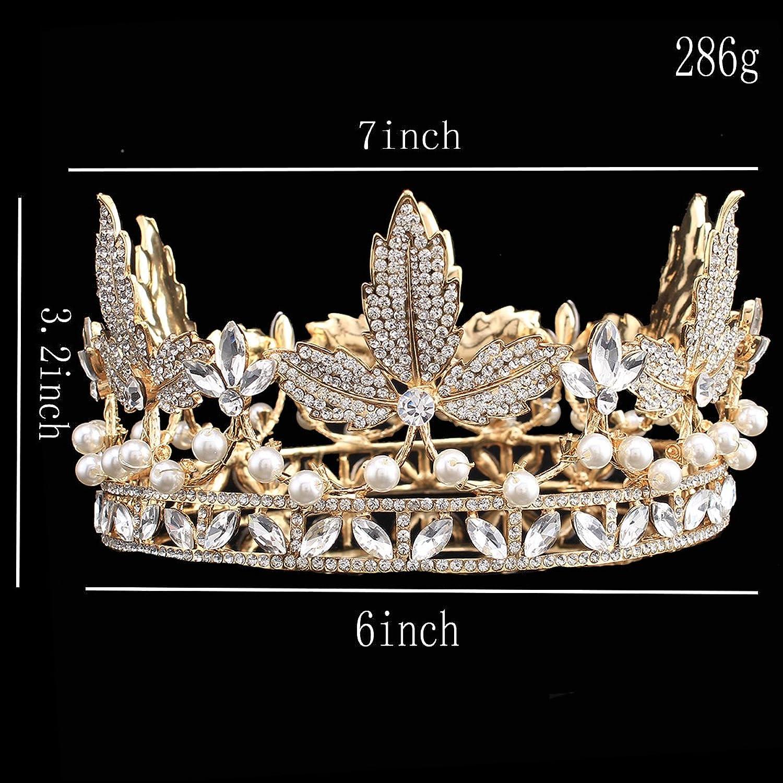 Brautschmuck diadem  santfe Gold Brautschmuck Diadem Hochzeit Krone Blätter Form Full ...