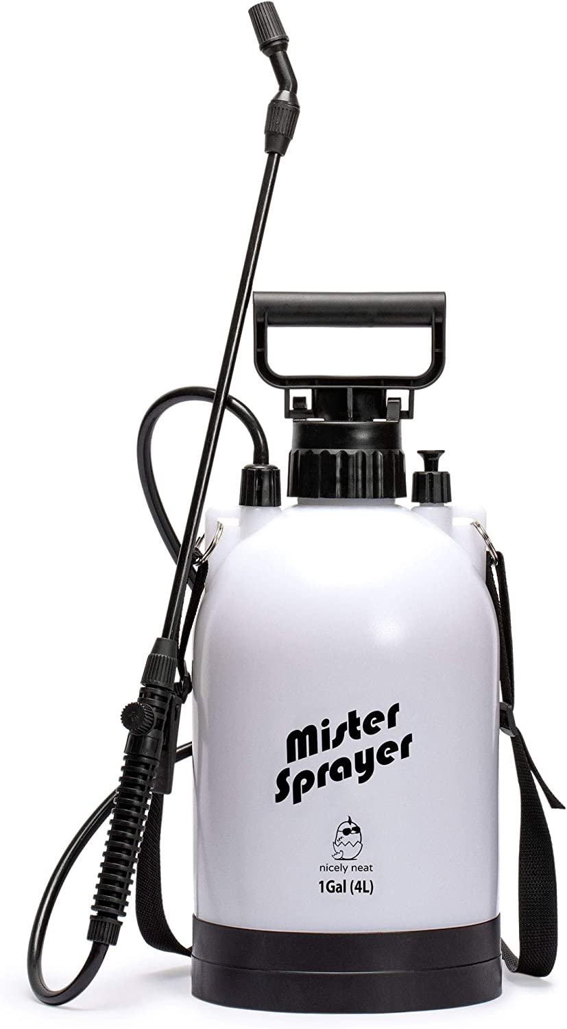Nicely Neat Water Mister & Spray Bottle for Plants & Gardens - Mr. Mister, 4 Liters
