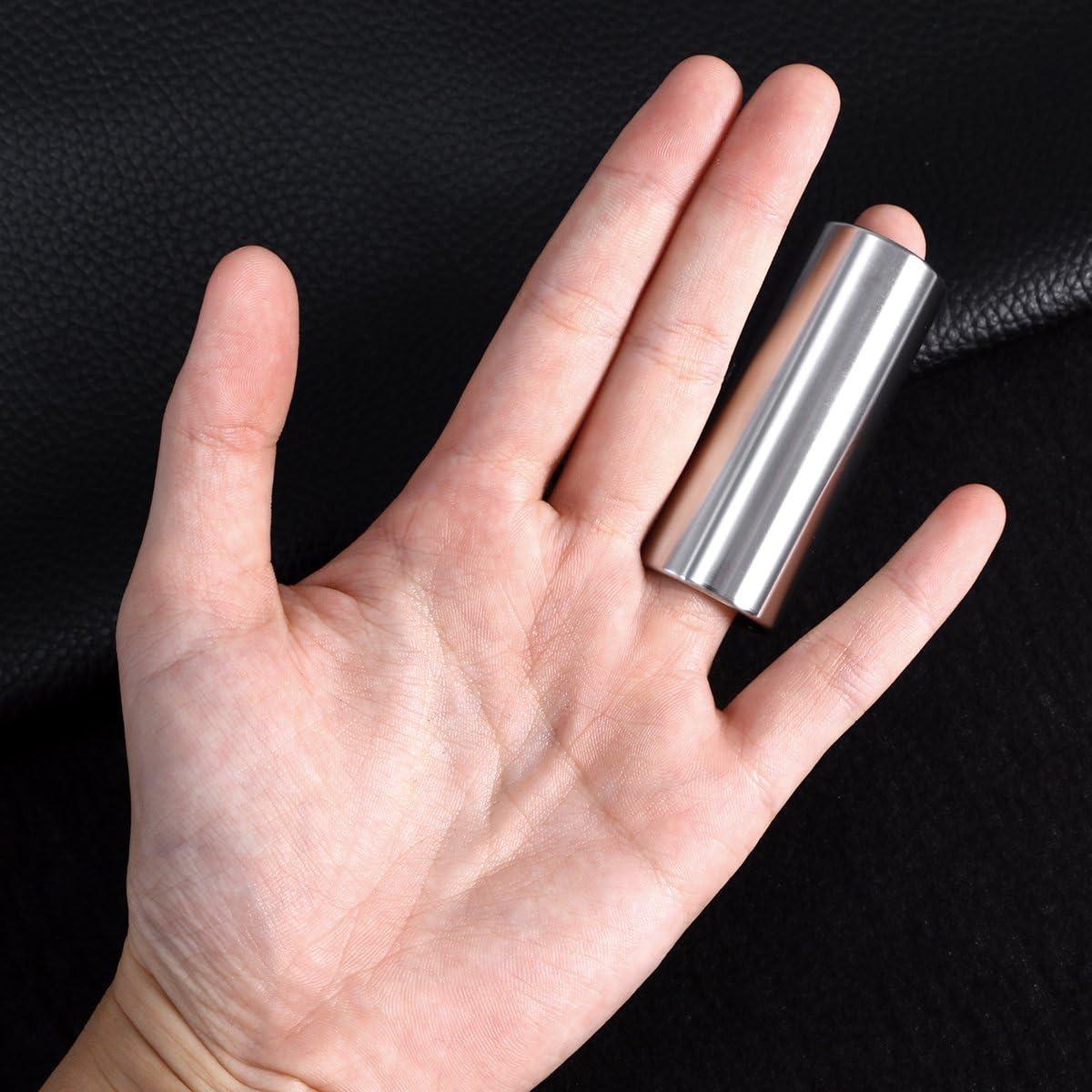 rosenice Slide guitarra 2/piezas 60/mm barrera de cristal y gu/ías de acero inoxidable Slide Bottleneck media para guitarra baja
