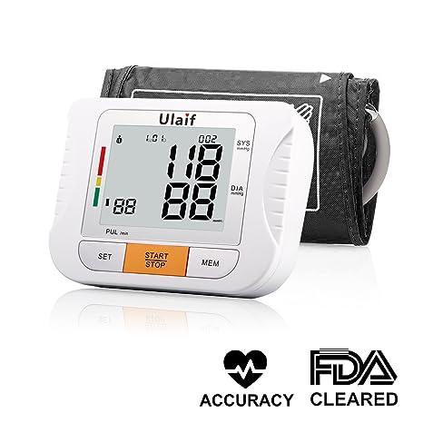 ULAIF Tensiómetro de Brazo Eléctrico Monitor Digital de Presión Arterial LCD Pantalla para Lectura Fácil Función