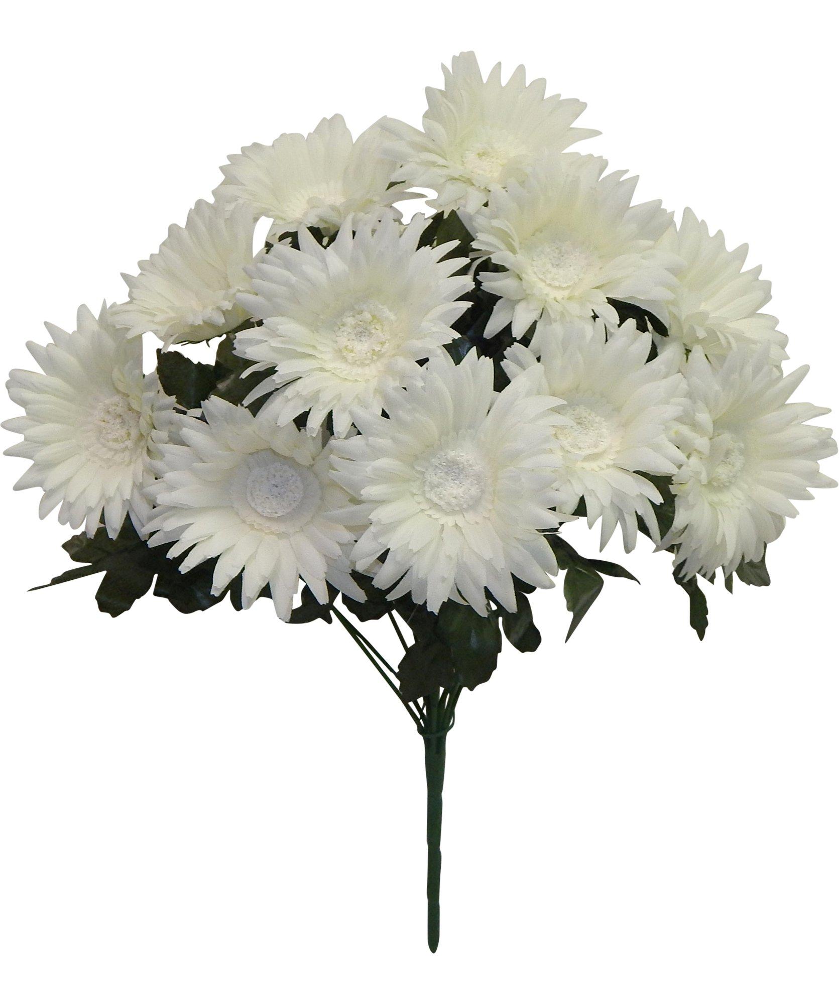 17-Gerbera-Daisy-Bush-Silk-Wedding-Flowers-Home-Party-Holiday-Decor-12-Daisies-Cream
