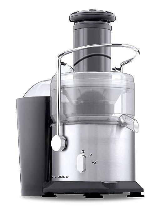Big Boss 800-Watt Professional Series Juicer 2 Speed Wide Mouth Fruit & Vegetable Juice Extractor-Stainless Steel