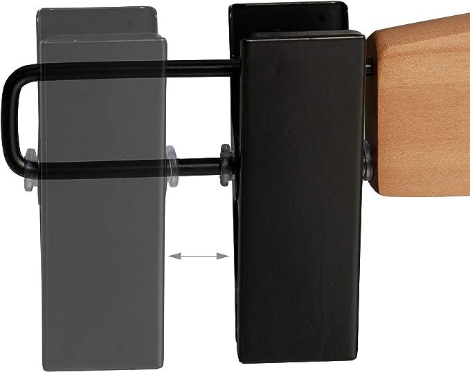 14 x 30,5 x 2,5 cm plastica Legno Relaxdays Maxi Set Grucce Pantaloni /& Gonne,10 pz,con Pinze,Appendi Abiti Uomini /& Donne,Misura L,30,5 cm,Naturale//Nero Metallo