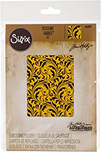 Sizzix 661822 Flourish Texture Fades Embossing Folder