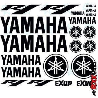 Yamaha R1 Set 30x20 Cm Typ5 Aufkleber Sticker Tuning Bike Motorrad Sponsor Logos