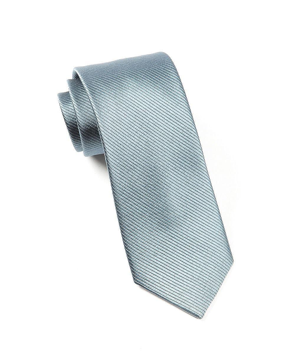 Hagora Mens Seashell Blue Satin Seerstruck Party Elegant Woven Silk Tie