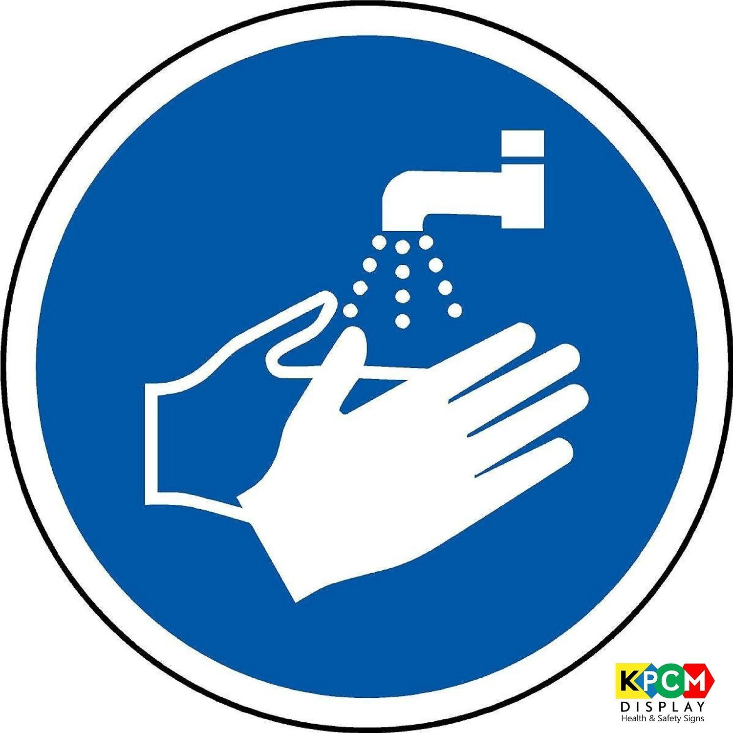 Iso safety sign international wash your hands symbol self iso safety sign international wash your hands symbol self adhesive sticker 100mm diameter amazon industrial scientific biocorpaavc