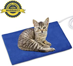 NAMOTEK Pet Heating Pad, Safe Electric Heating Pad for Dogs and Cats Indoor Warming Pad with Auto Constant Temperature