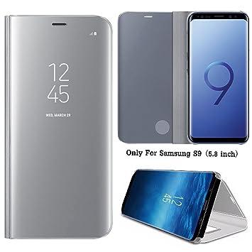 Guran® Mirror Efecto Espejo Funda para Samsung Galaxy S9 Clear ...