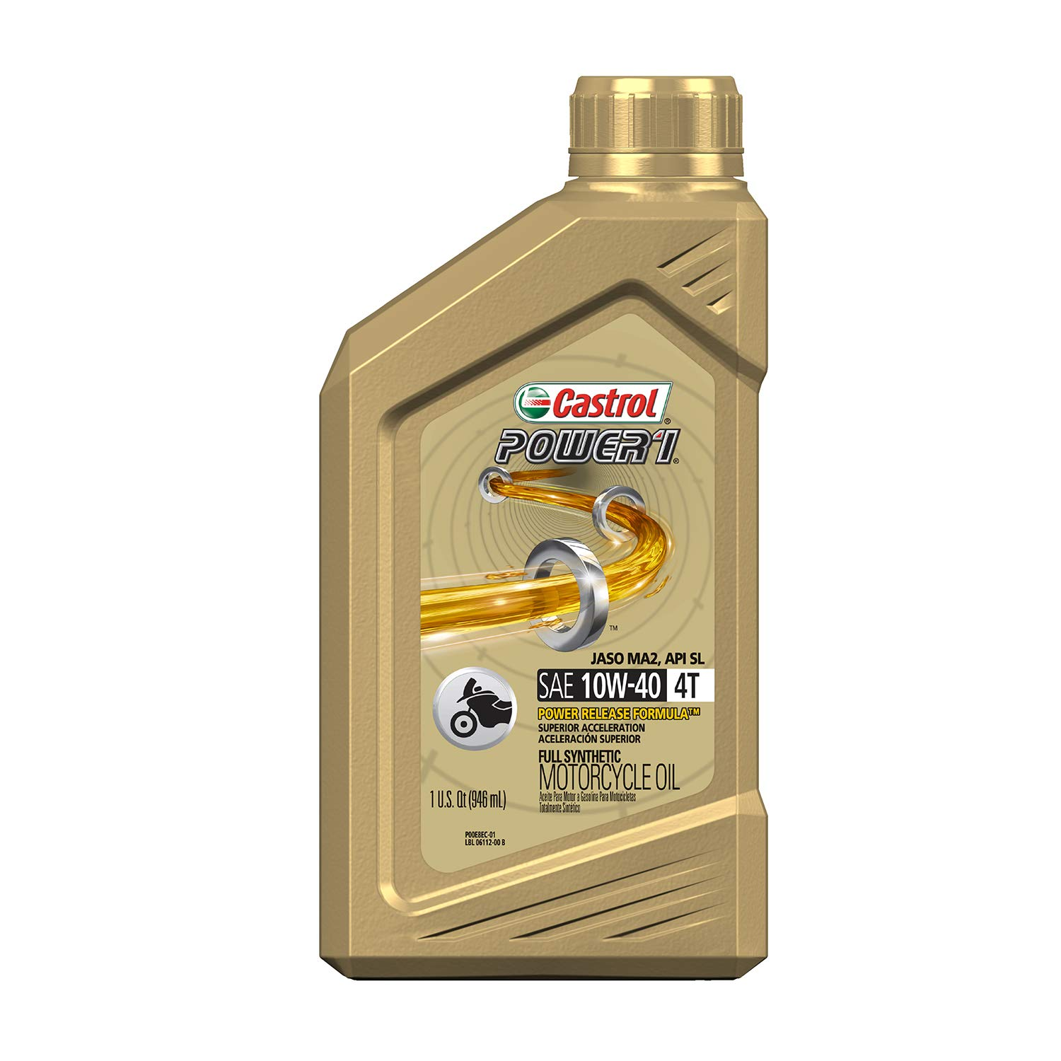 Castrol Power 1 4T 10w-40 Motorcycle 4 Stroke Engine Oil ...