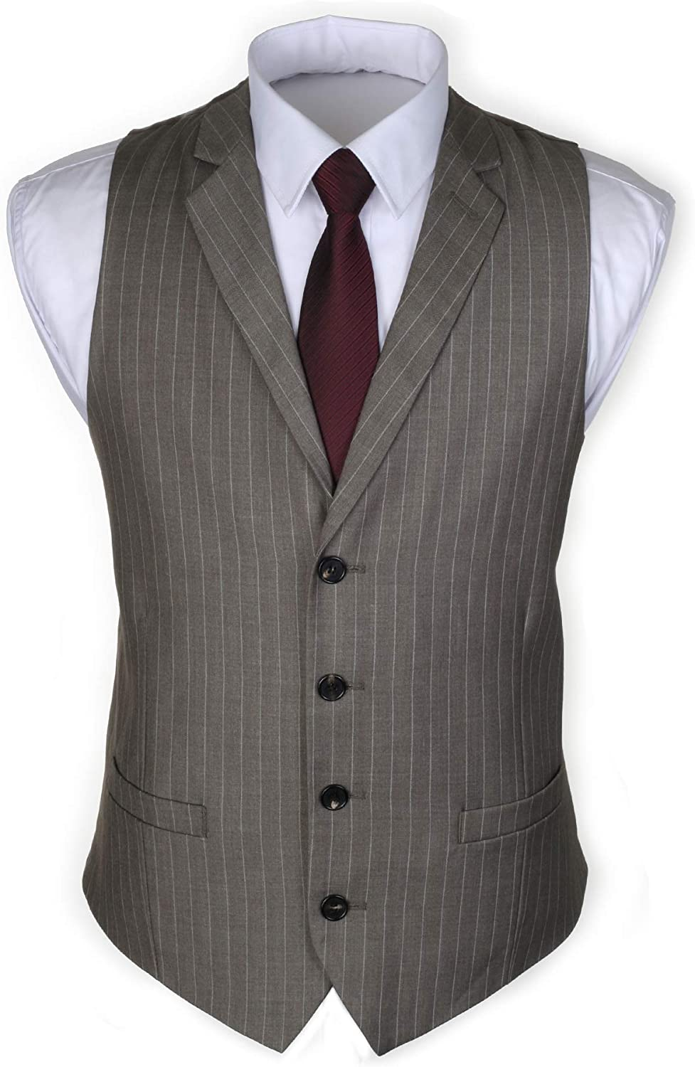 Ruth/&Boaz 2Pockets 4Buttons Business Tailored Collar Suit Waistcoat