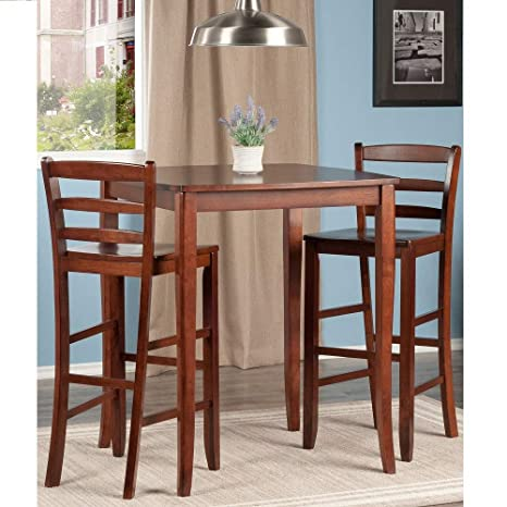d7638df63dcad Amazon.com - Svitlife 3-Pc Inglewood High/Pub Dining Table with ...