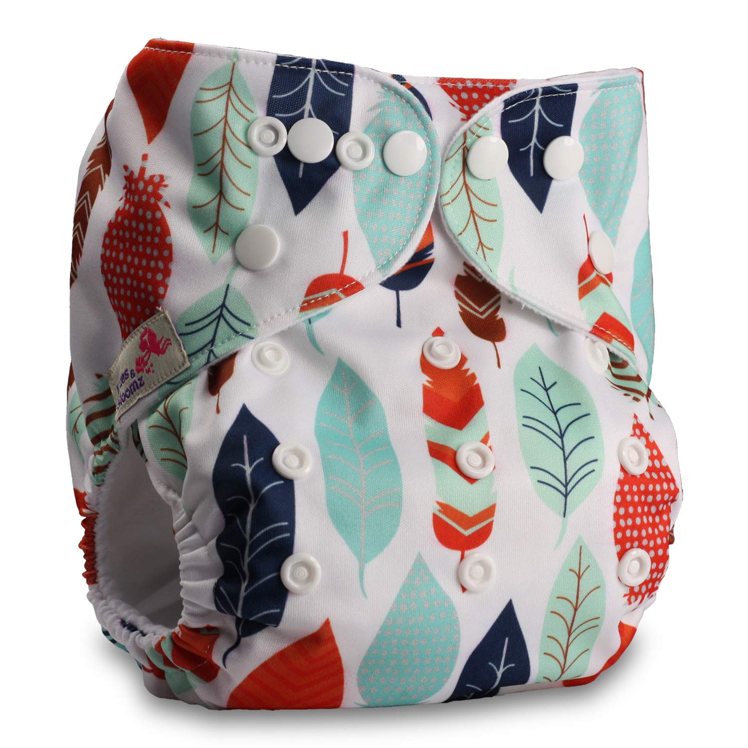 Fastener: Popper Littles /& Bloomz Set of 1 Reusable Pocket Cloth Nappy with 1 Microfibre Insert Pattern 32