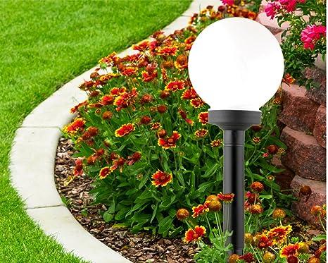 Buvtec cm lampada da giardino solare luce sferica led lampada