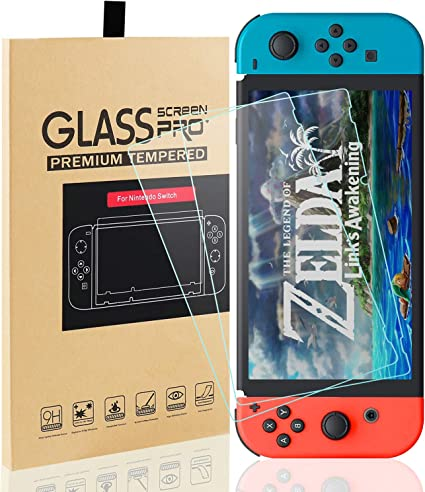 PULESEN Protector de Pantalla Nintendo Switch, [2-Pack] Protector ...