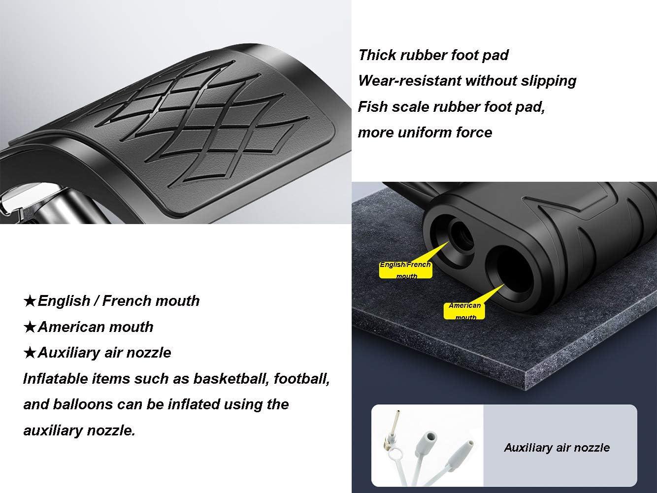 Fettgedruckter Doppelzylinder//Titanstahlhalterung//Verletzt die Batterie Nicht//Universald/üsen-Fu/ßpumpe Einzelfu/ßpumpe Hywot Motorrad-Luftpumpe