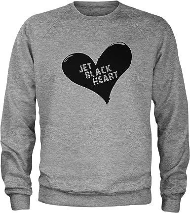 I Love Heart Boating Black Sweatshirt