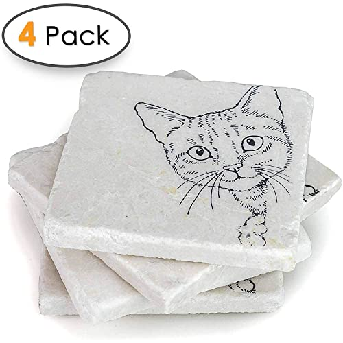 Amazon.com  Cat Coasters for Drinks -Crazy Cat Lady Gifts 9ceb64f9112a4