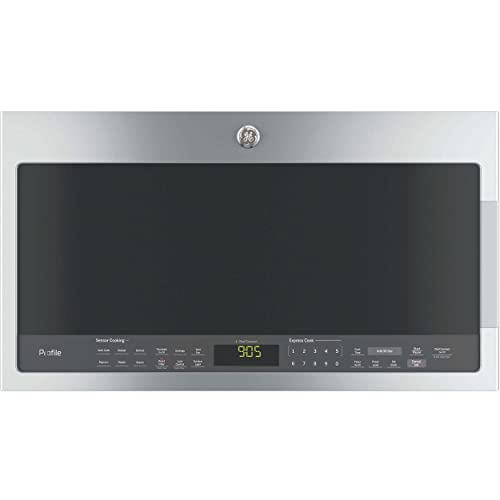 GE PVM9005SJSS Profile 2.1 Cu. Ft. Stainless Steel Over-the-Range Microwave