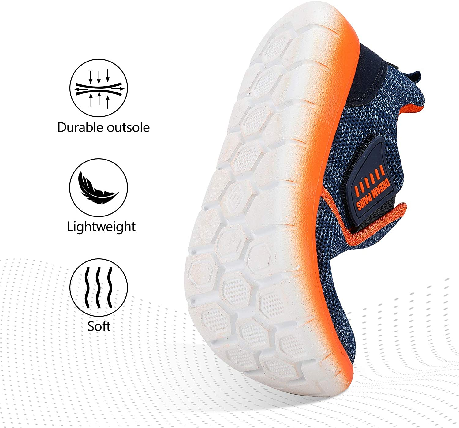 DREAM PAIRS Boys Girls Breathable Sneakers Running Shoes