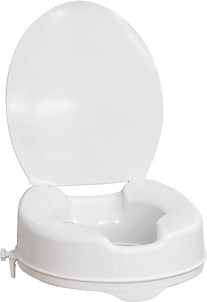 Amazon.com: AquaSense Raised Toilet Seat with Lid, White, 4 Inches
