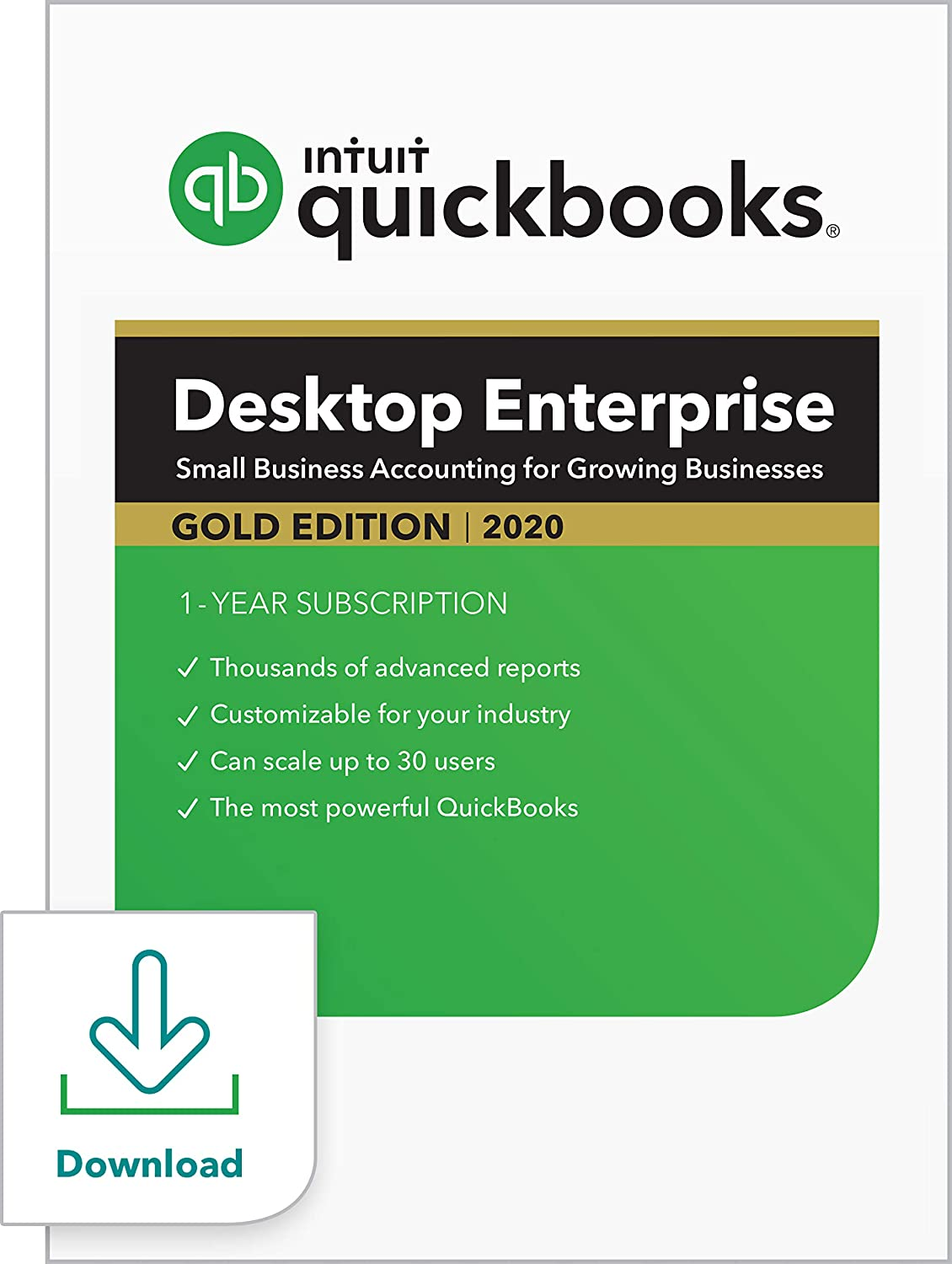 QuickBooks Desktop Enterprise Gold 2020 Accounting Software for Business [PC Download]