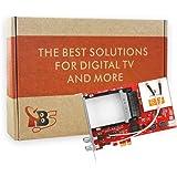 Amazon.com: DVB-S2/T2/C2 tarjeta PCI-e con CI módulos por ...