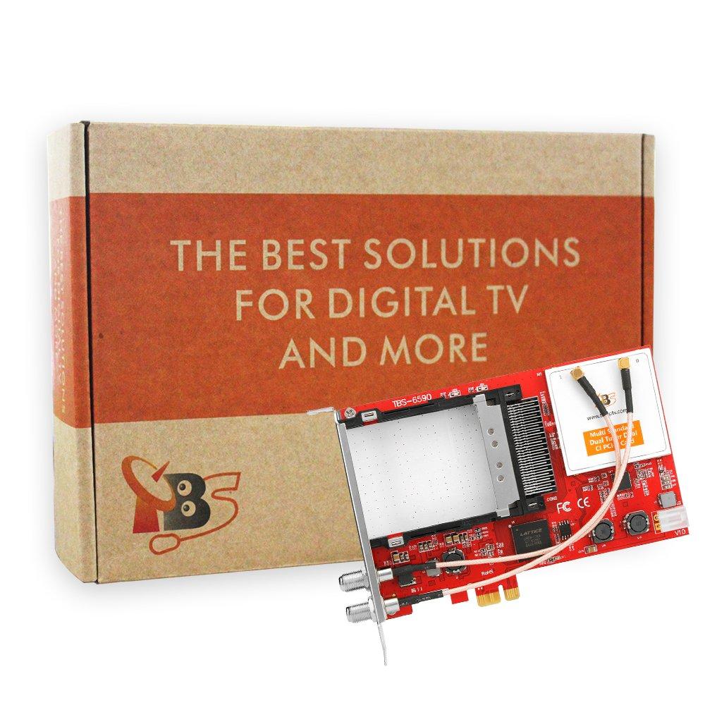 TBS6590 DVB-S2X S2 S T2 T C2 C Digital TV Tuner Card With CI Slot for Live TV