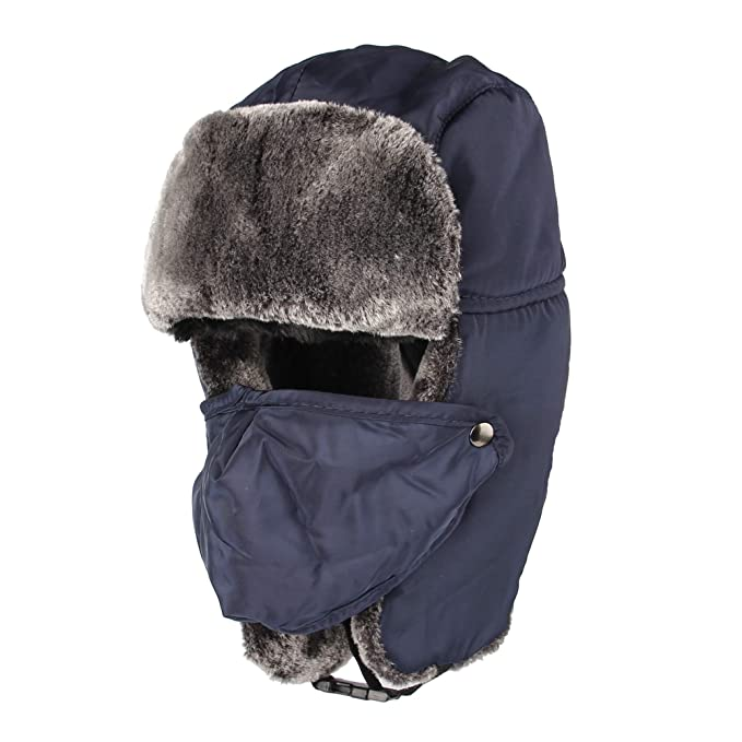 WITHMOONS Nieve Sombrero Gorros de Aviador Invierno Cálido Ear Flap Cap  Trapper Hat Russian Wind Proof 5d0a94dc8b3