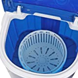 ZENSTYLE Portable Mini Single Tub Washing Machine - Compact 2-IN-1 Design 9LBS Capacity Semi-Automatic Washer with Timer Control Spin Cycle Basket, Translucent Tub