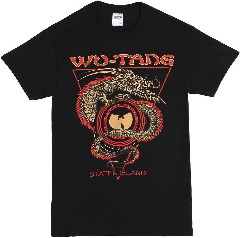 Wu-Tang Clan Staten Island Dragon T-Shirt - Black (Large) …