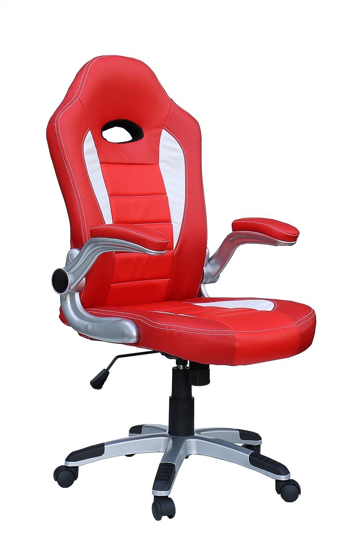 SPORTSITZ SPORTSITZ SPORTSITZ RACER Chefsessel Bürodrehstuhl Schreibtischstuhl 212104 rot weiß TOP fd36f1