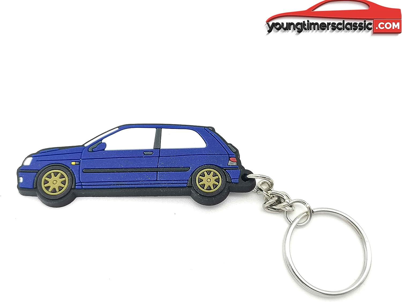 Noir youngtimersclassic Porte cl/é Peugeot 205 GTI en PVC Souple