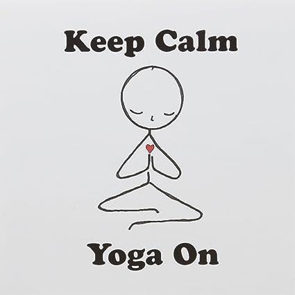 Amazon 3drose greeting cards keep calm yoga on meditation 3drose greeting cards keep calm yoga on meditation stick figure yoga lotus m4hsunfo