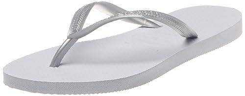Havaianas Slim, Chanclas Niñas, Gris (Grey/Silver 0982), 27/