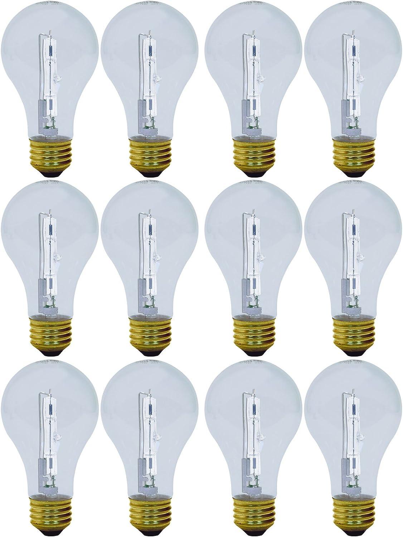 GE Lighting 62607 Reveal Clear 29-Watt (40-watt replacement) 325-Lumen A19 Light Bulb with Medium Base, 12-Pack