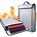 """Fireproof Bag 2000°F Document Holder Waterproof Bag - Peace of Mind Security - Foldable for Fire Safe Box or Grab n Go Organizer for Money Battery Cash Legal Passport (15"""" x 11"""" x 3"""")"""