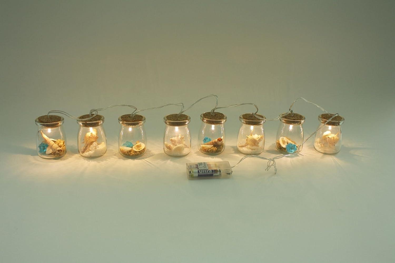 Enter-Deal-Berlin Lichterkette- MARITIM - mit 8 LED Lampen und Dekoration