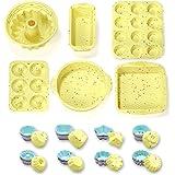 46PCS Silicone Bakeware Set Silicone Cake Molds Set For Baking, Including Baking Pan, Cake Mold, Cake Pan, Toast Mold, Muffin