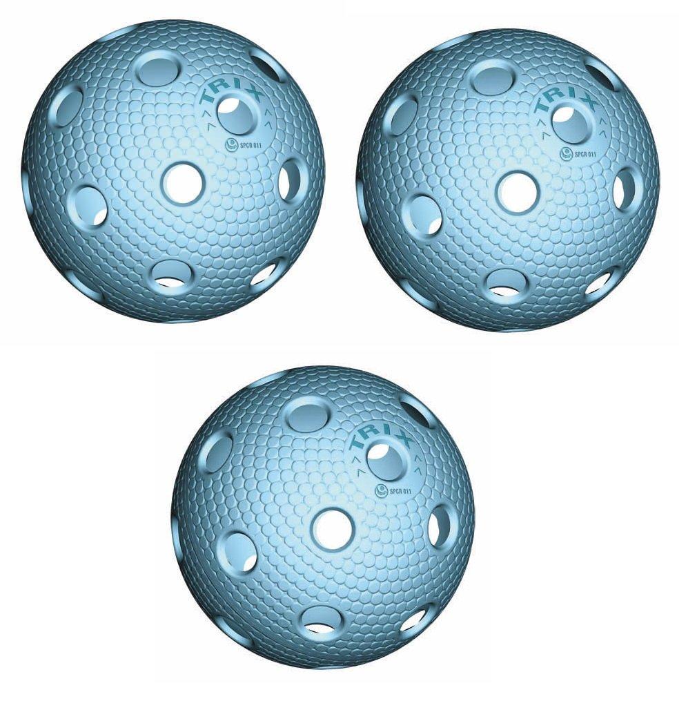 3x Trix Floorball weiß, grün, orange, blau mit IFF zertifiziert 3x Trix Floorball weiß grün